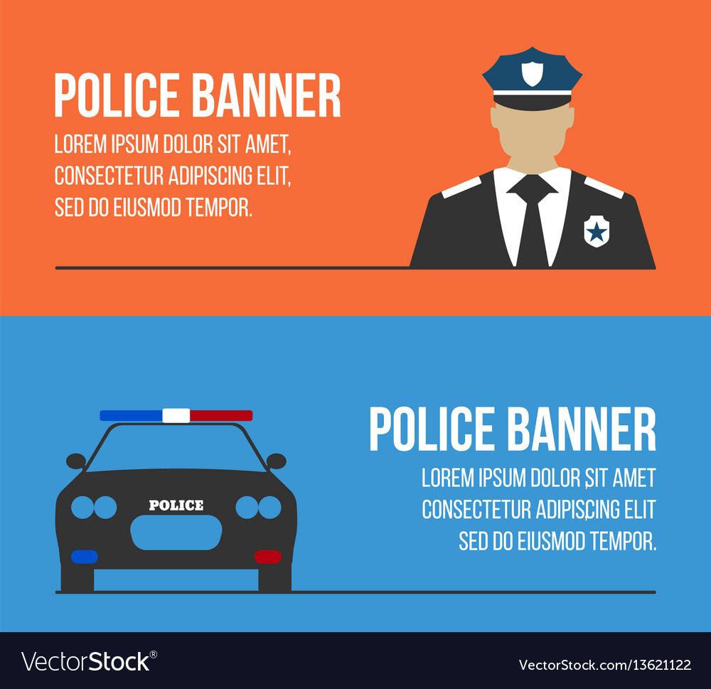 Police logos and banners