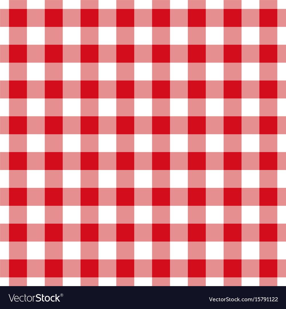 Red tablecloth pattern design vector image