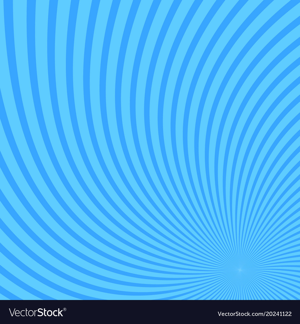 Spiral abstract background from spun rays vector image