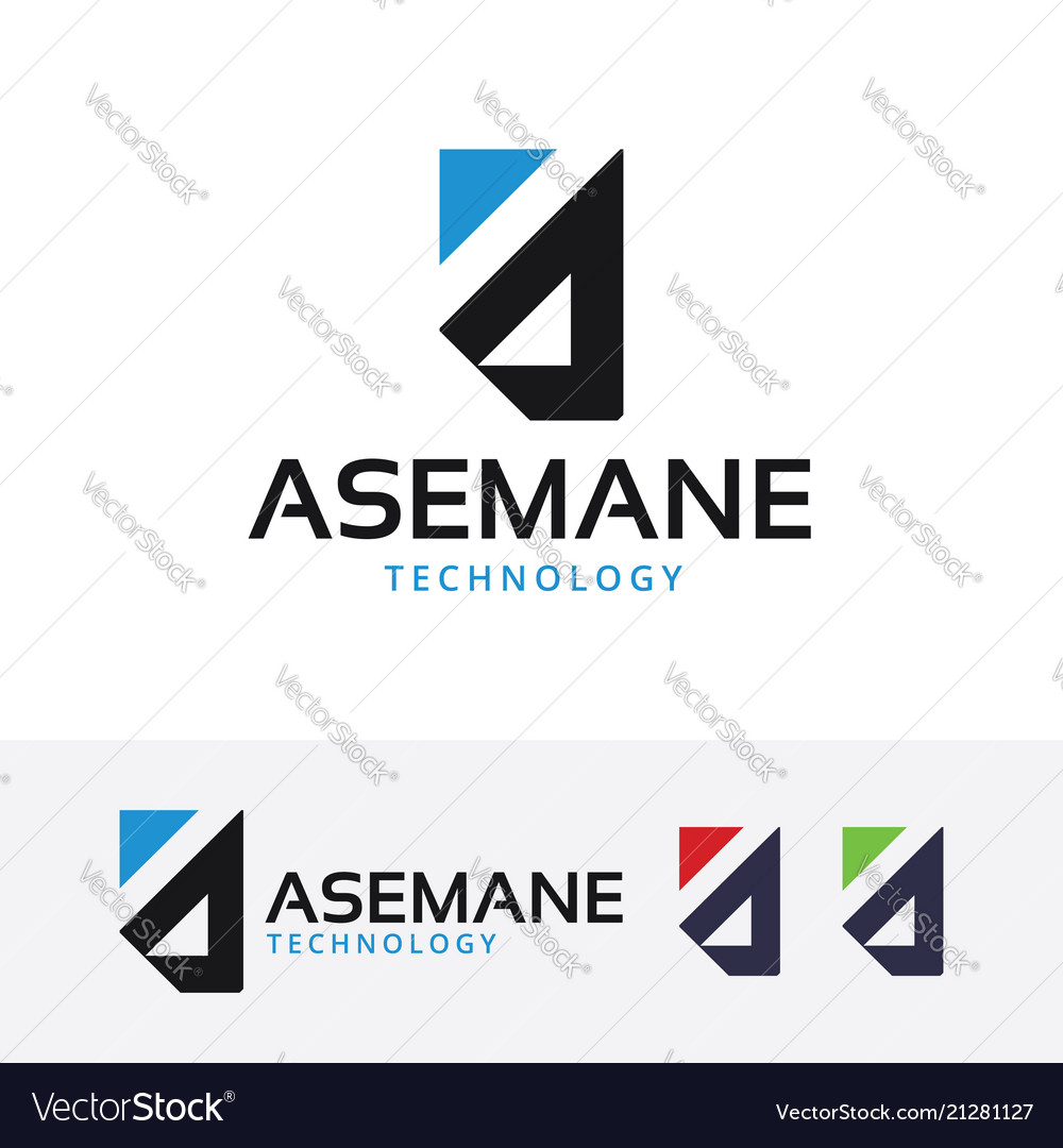 Asemane technology logo design