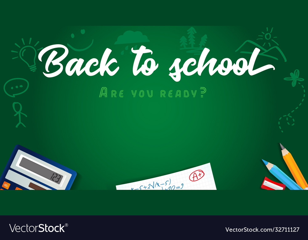 Back to school colored pencils design