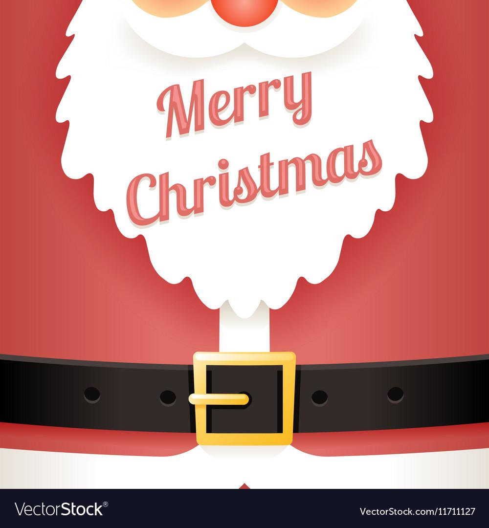 beard text santa claus belt greating card template