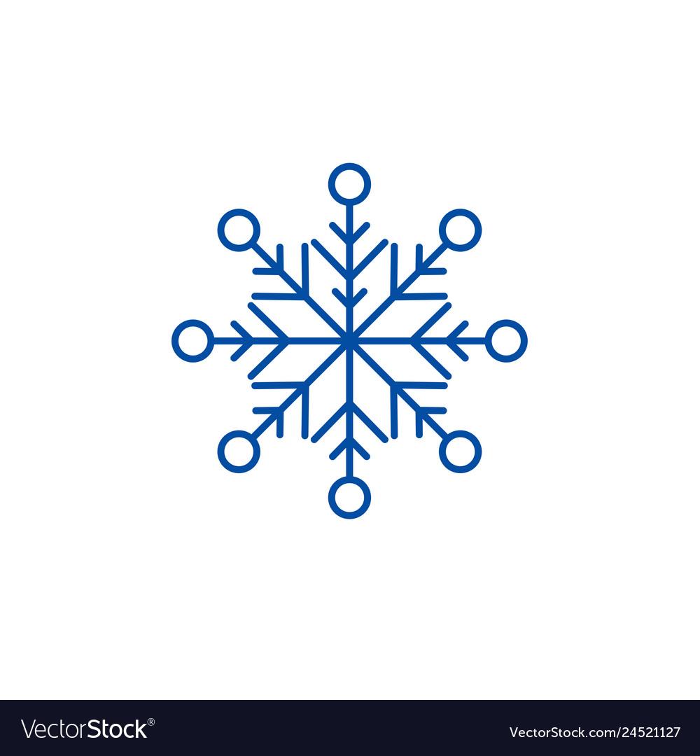 Beautiful snowflake line icon concept beautiful