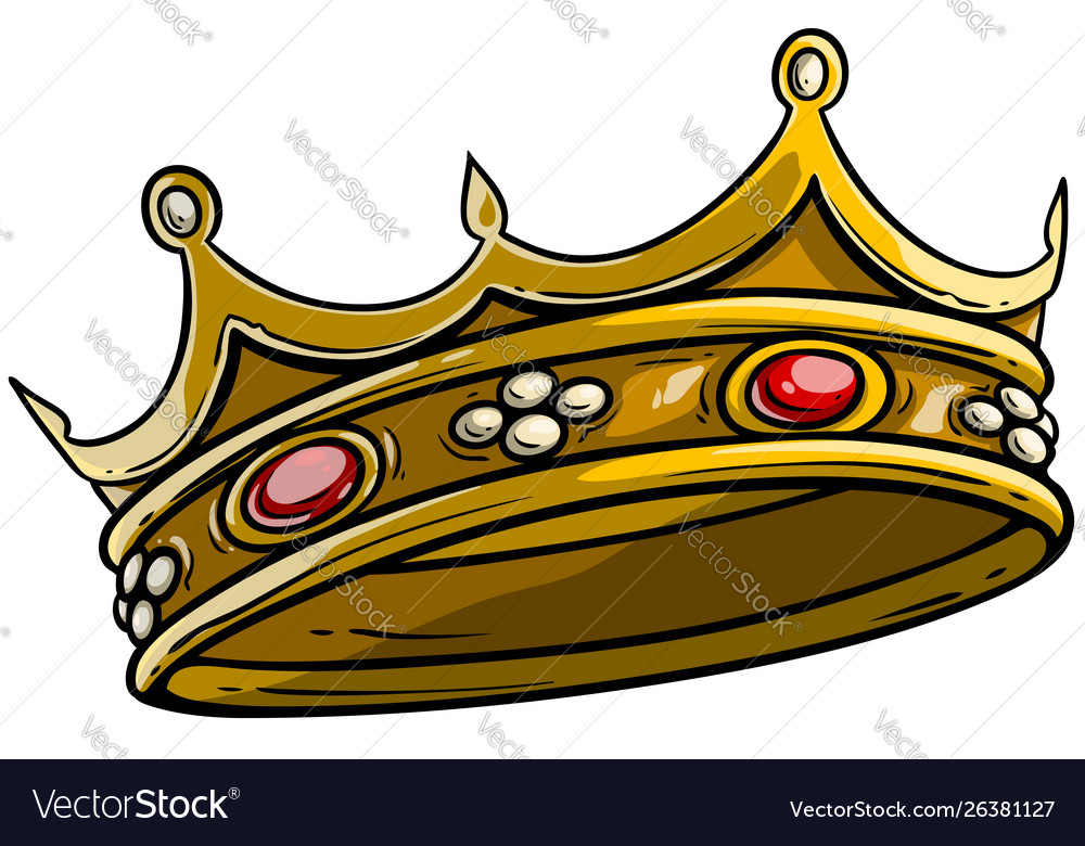 Cartoon Golden Royal King Crown Royalty Free Vector Image Download all 146 crown logos unlimited times with a single envato elements subscription. vectorstock