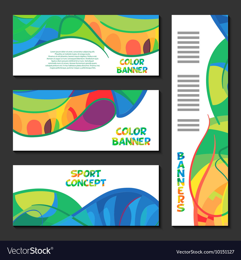 Colorful abstract template design brochure poster
