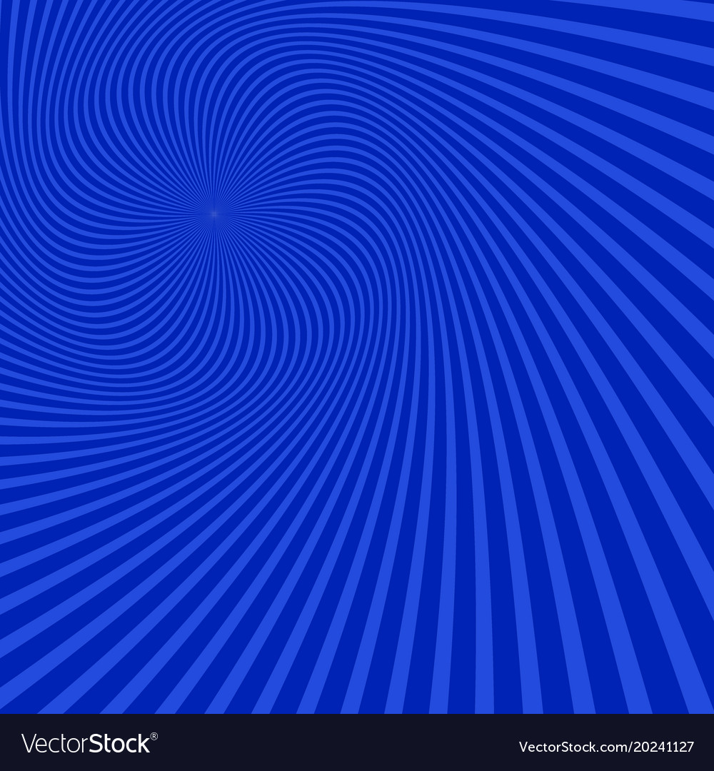 Geometrical spiral background from spun rays