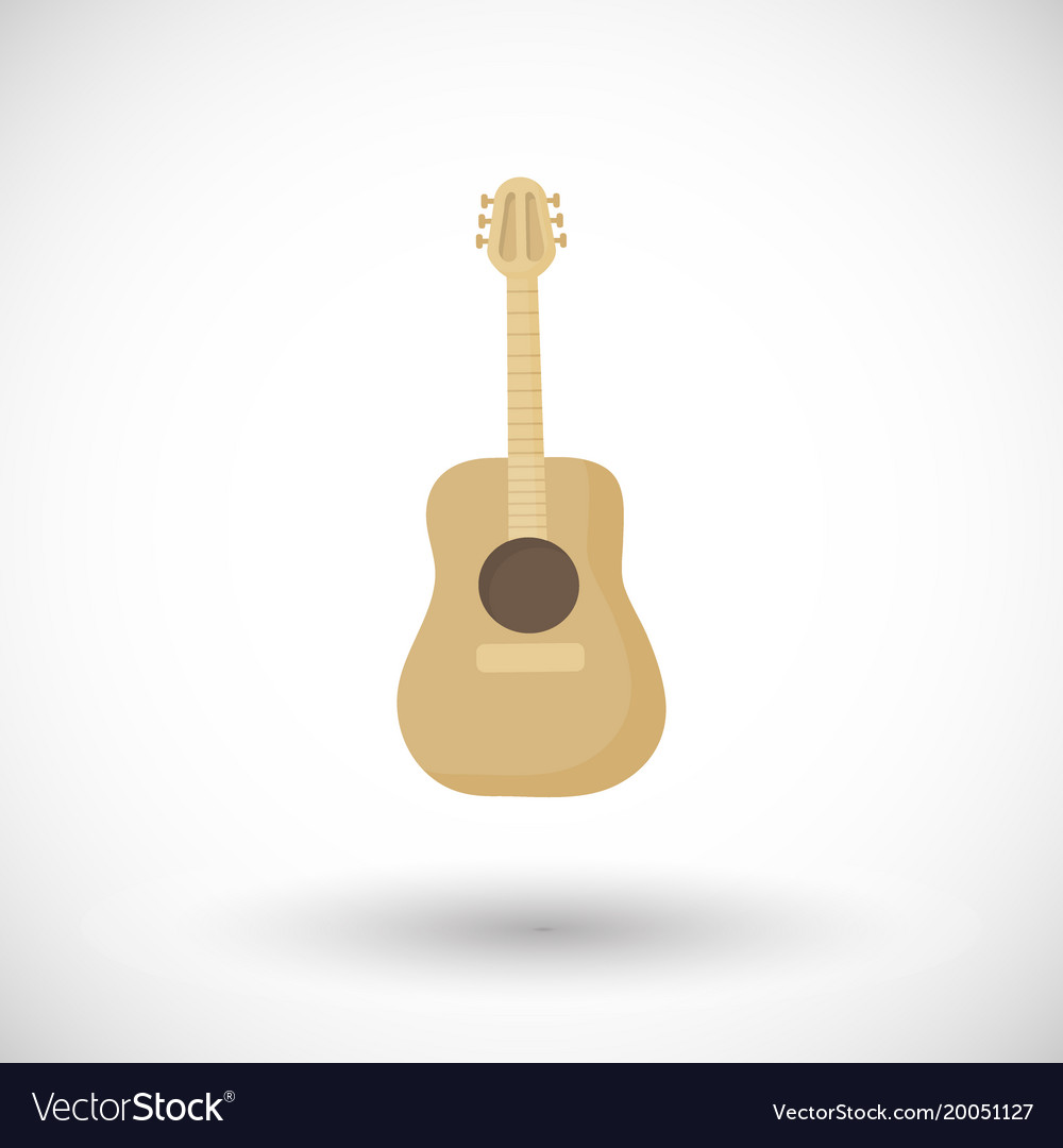 Guitar flat icon vector image