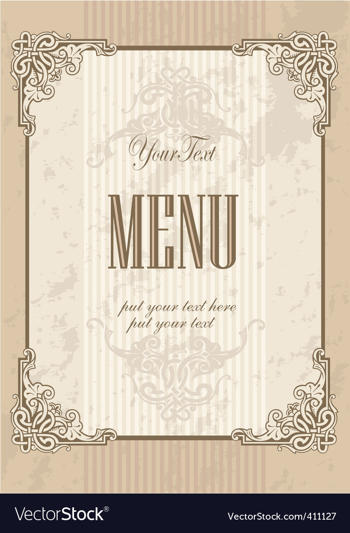 Menu cover design