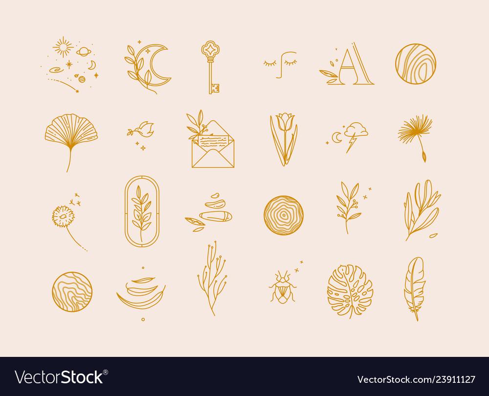 Symbols flat light beige