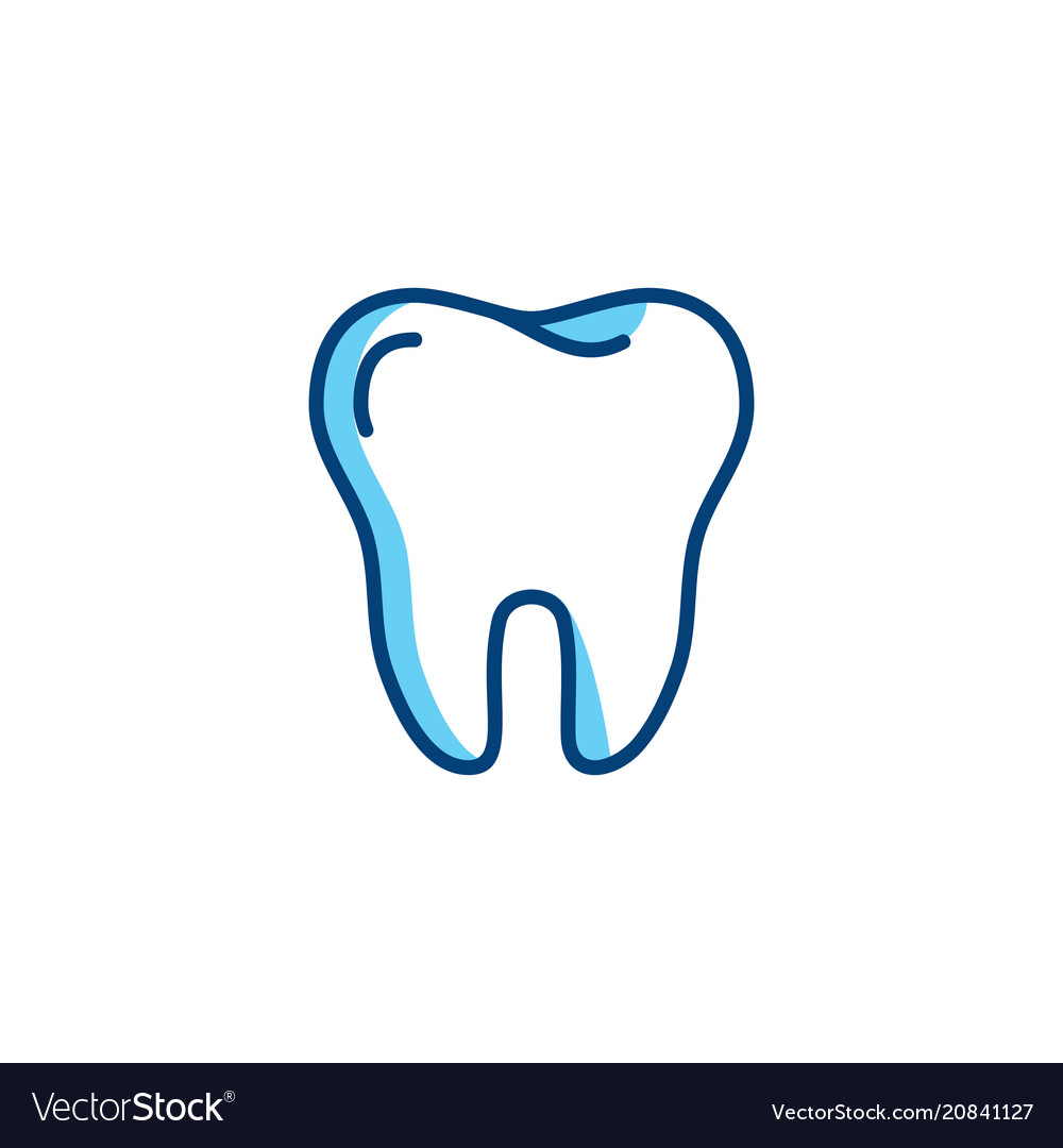 Tooth Icon Dentist Colorful Logo Dental Care Or Vector Image