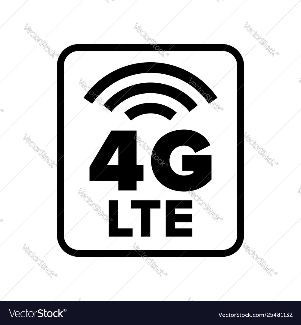 4g lte wireless network Royalty Free Vector Image