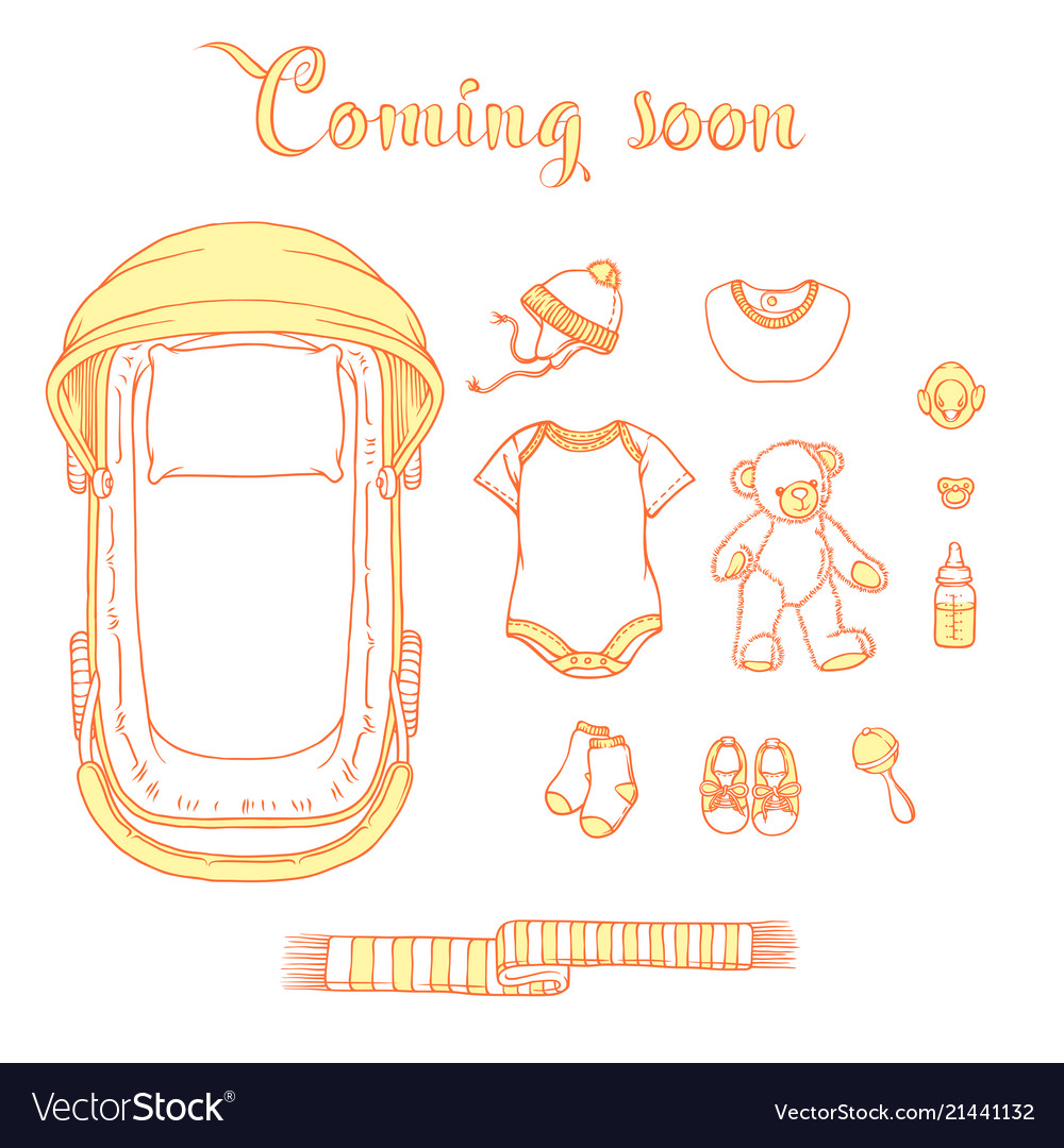 Baitems With Text Coming Soon Royalty Free Vector Image