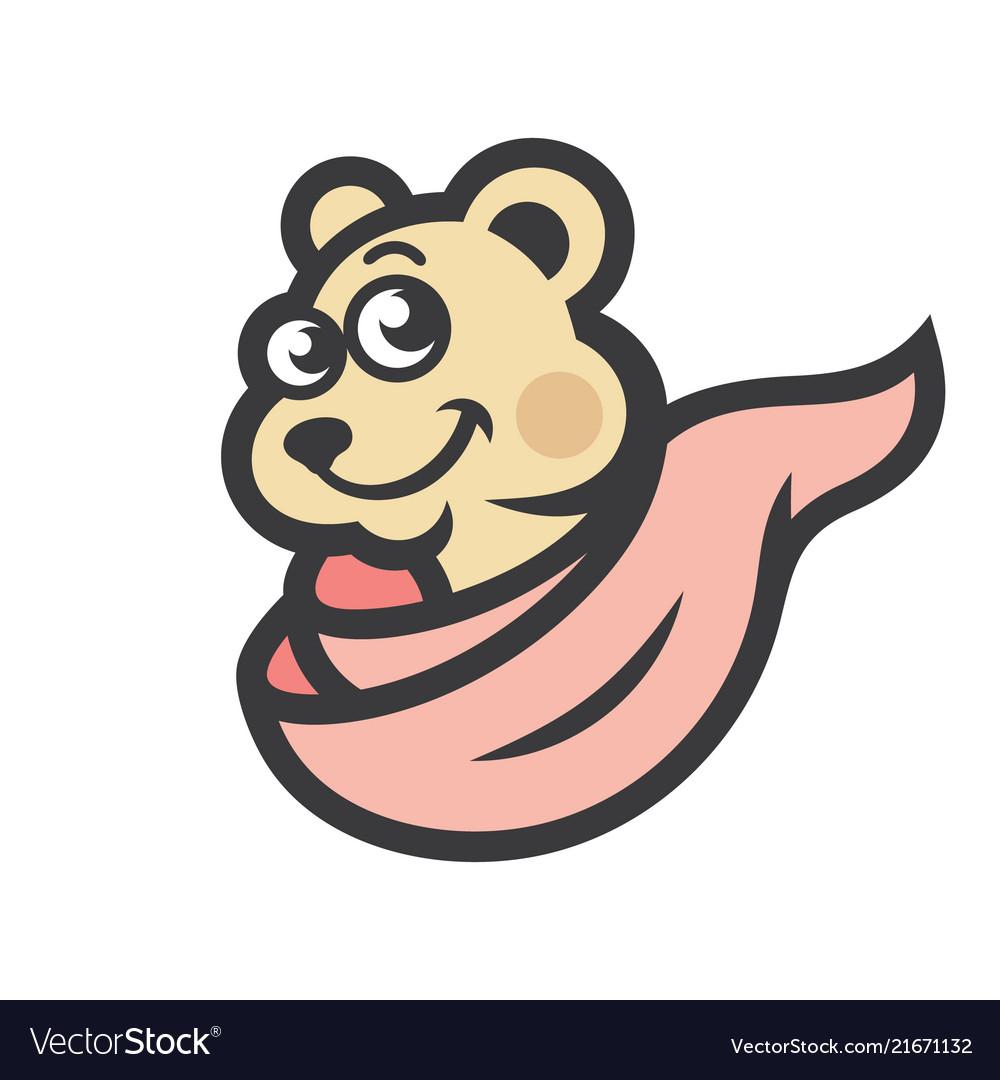 Bear head sign