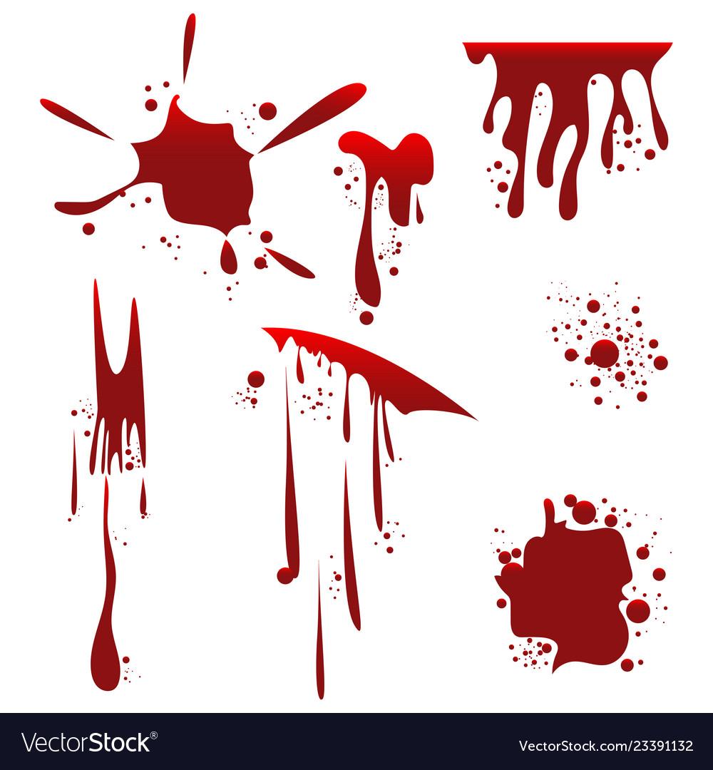 Blood splashes design