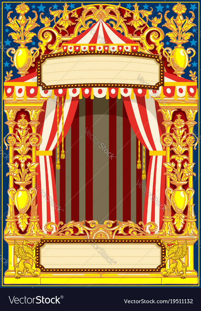 carnival poster template royalty free vector image