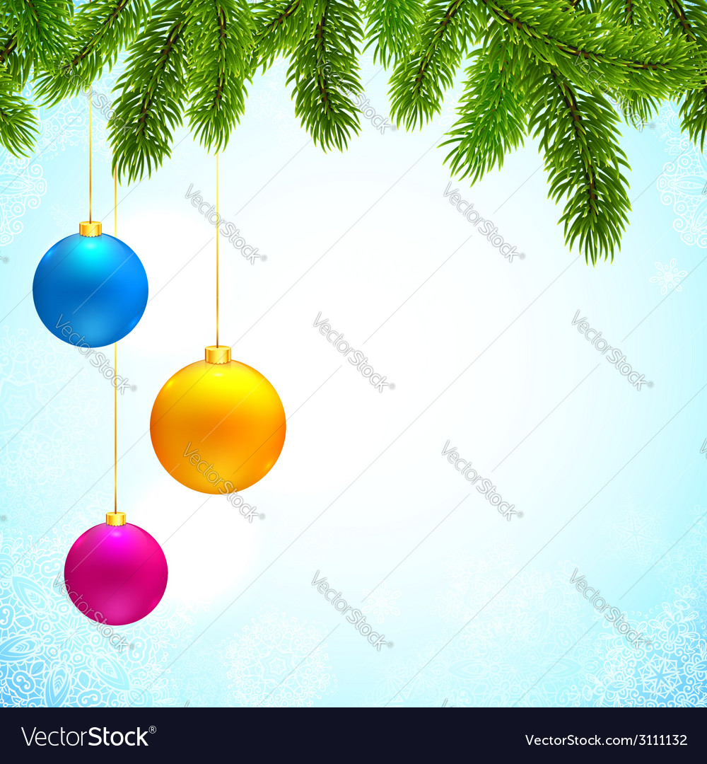 Christmas background with fir tree branches and