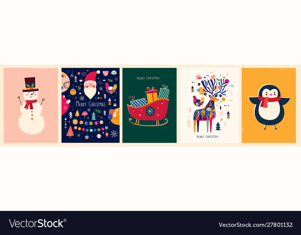 Collection christmas cards