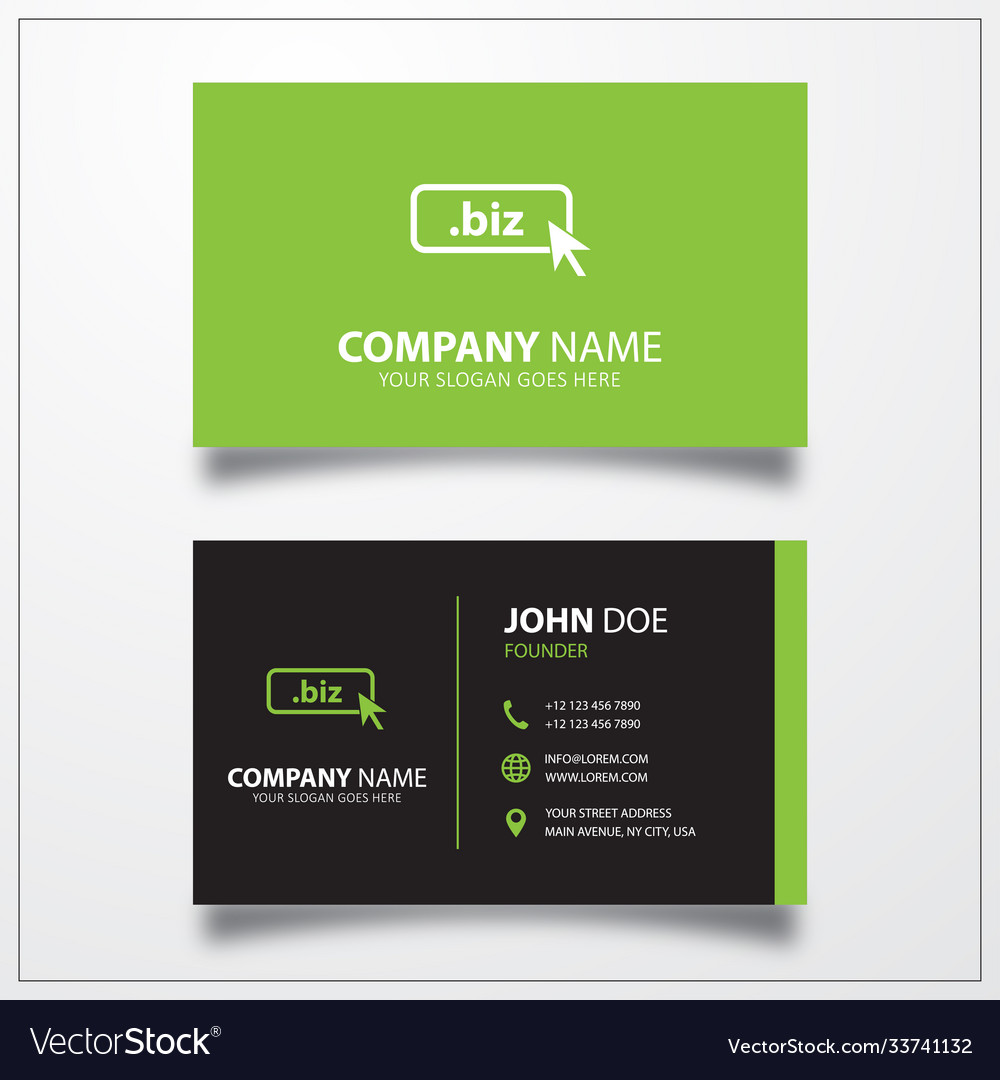 Domain biz icon business card template