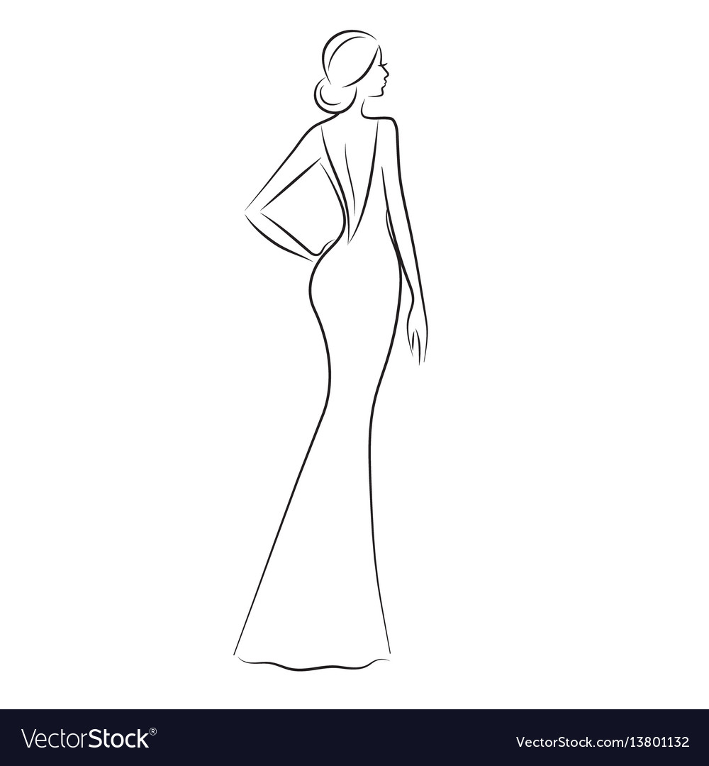 Fashionable Woman Silhouette