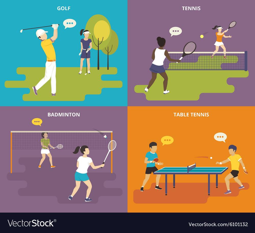 Flat sport icons set