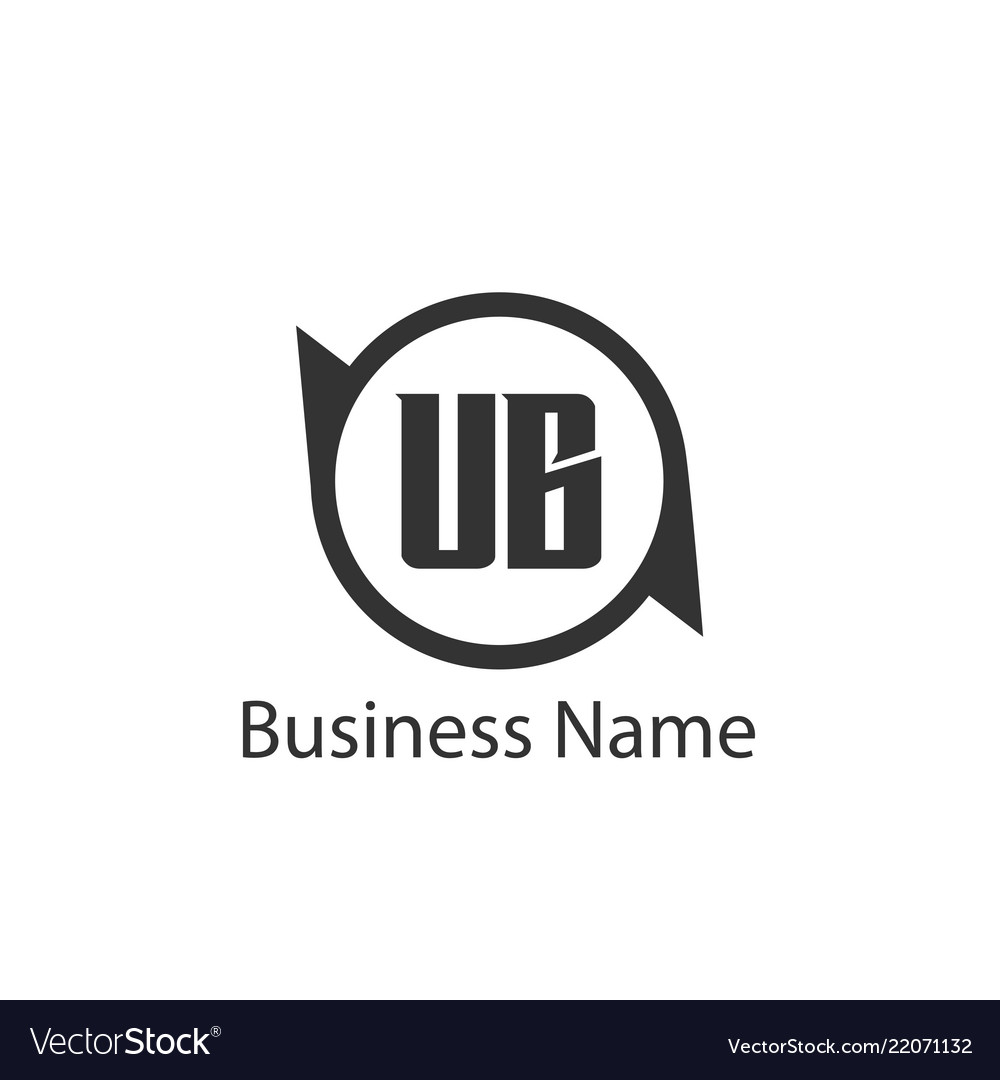 Initial letter ub logo template design royalty free vector.