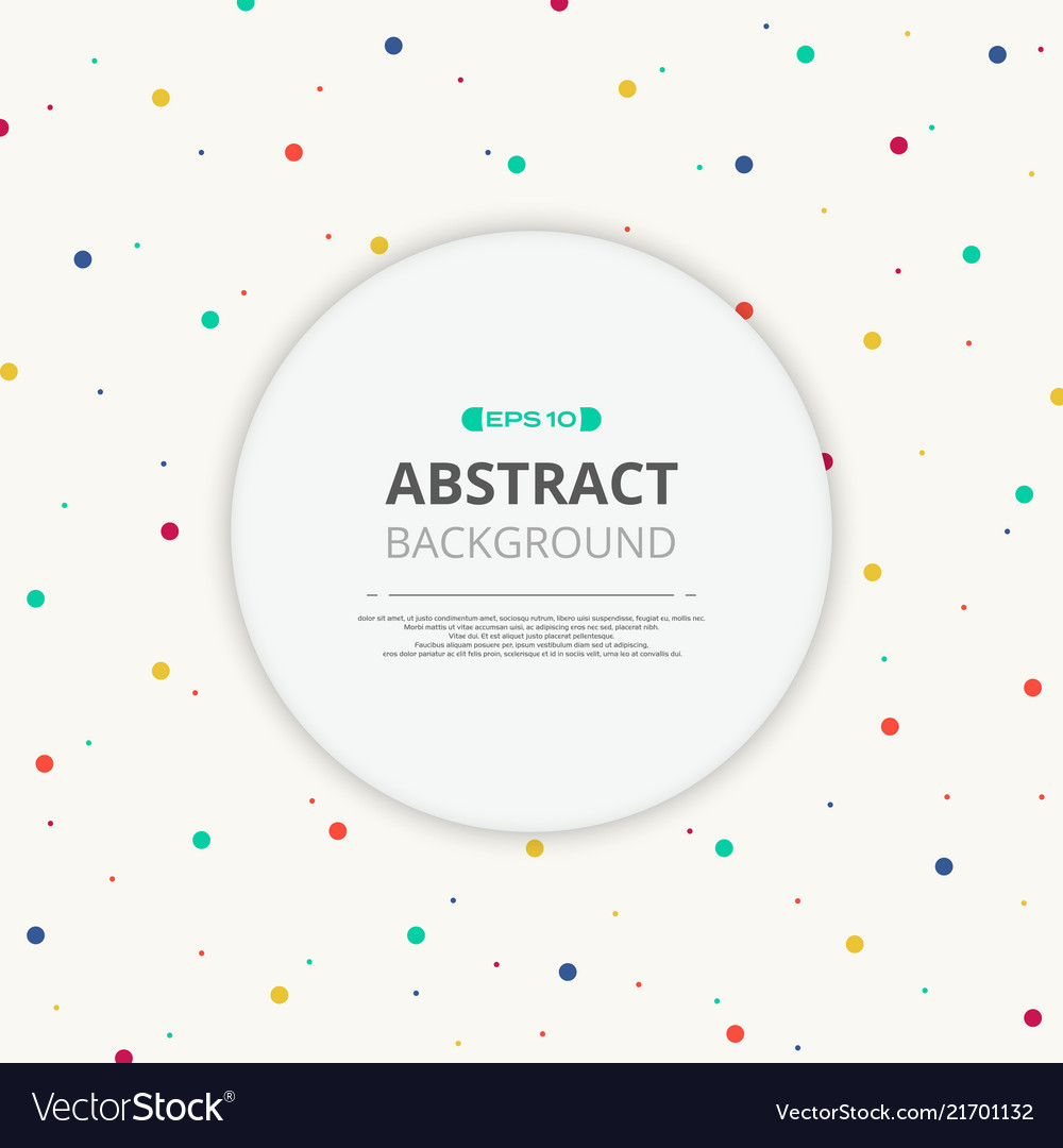 Round space of text in colorful splash dot