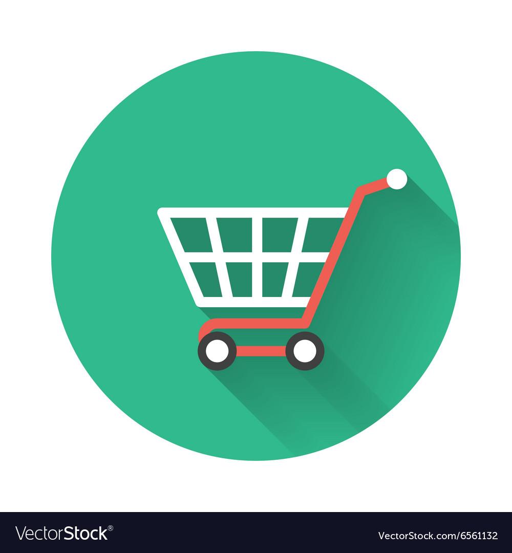 shopping cart icon royalty free vector image vectorstock