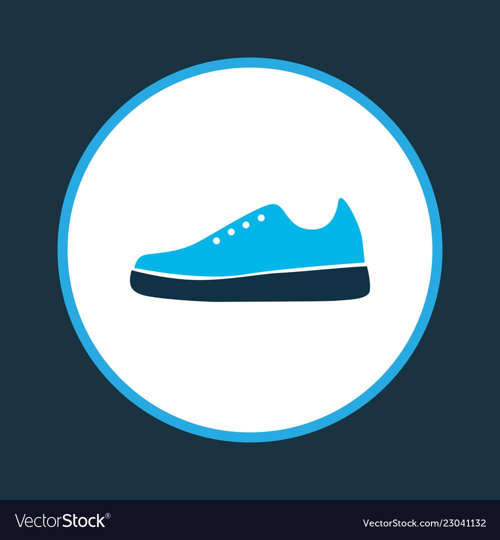 sports shoe icon colored symbol premium quality vector image vectorstock