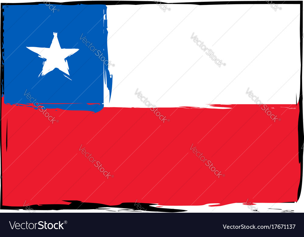 Abstract chilean flag or banner
