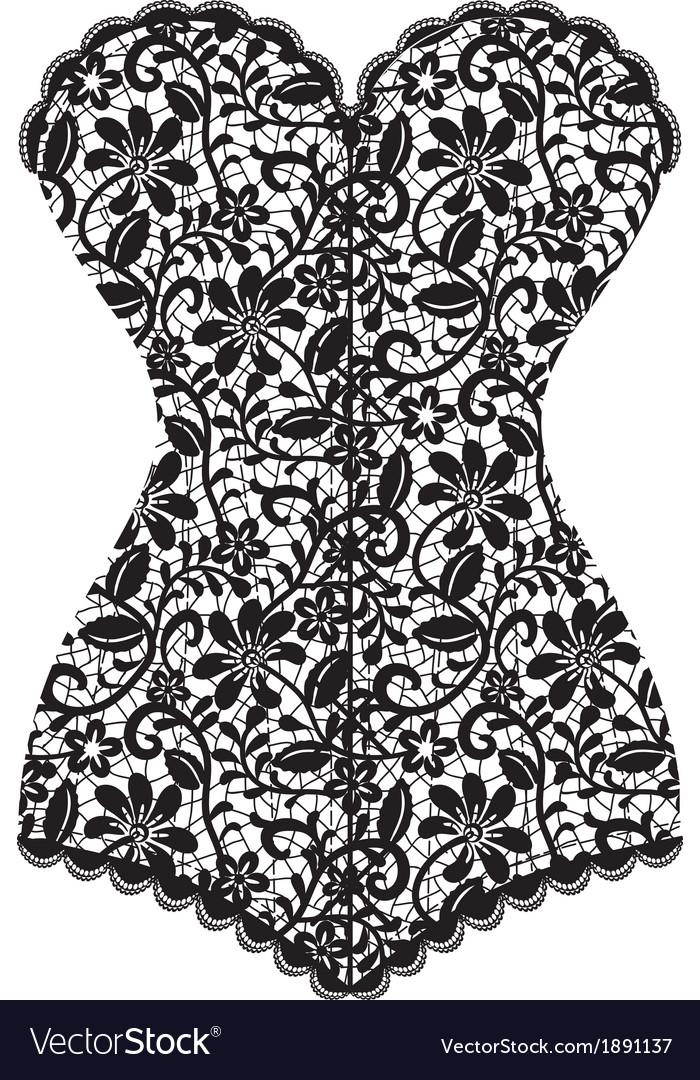 Black lace corset corset