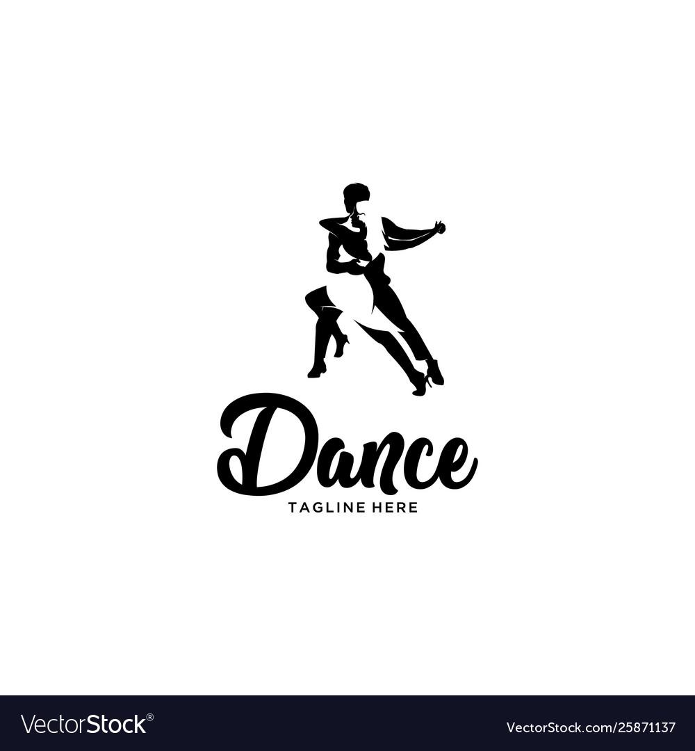 Dance silhouette logo