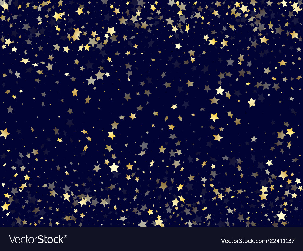 Gold falling star sparkle elements