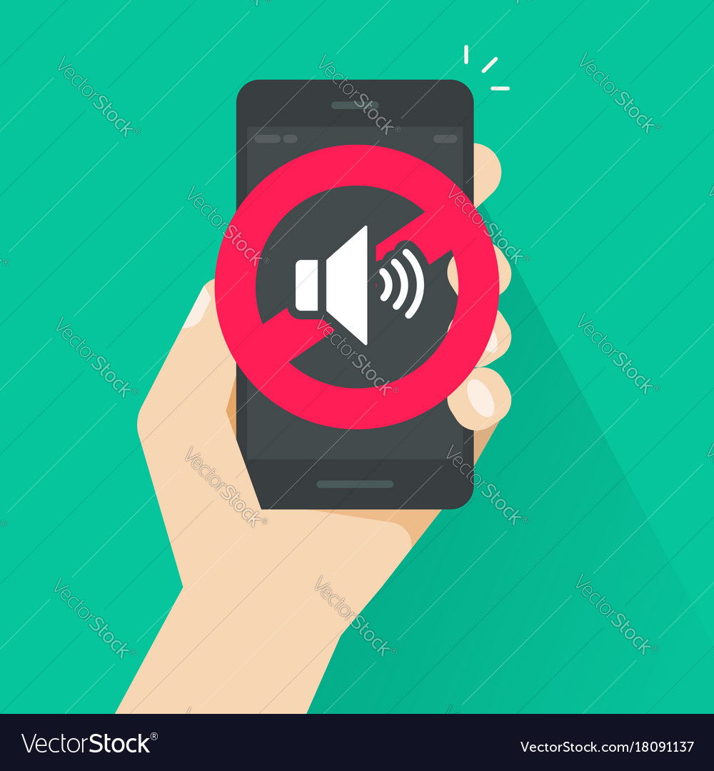 No sound sign for mobile phone