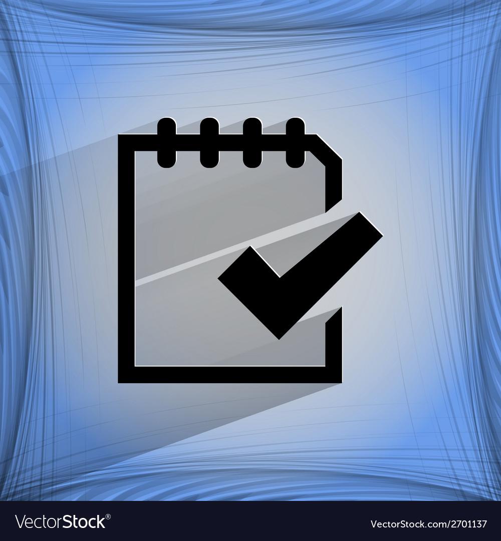 Notepad paper Documents Flat modern web design on