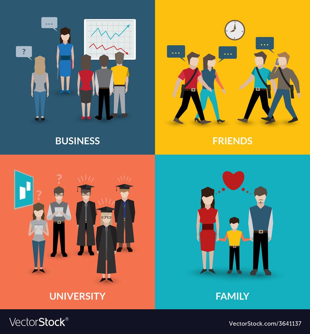 People social behavior patterns