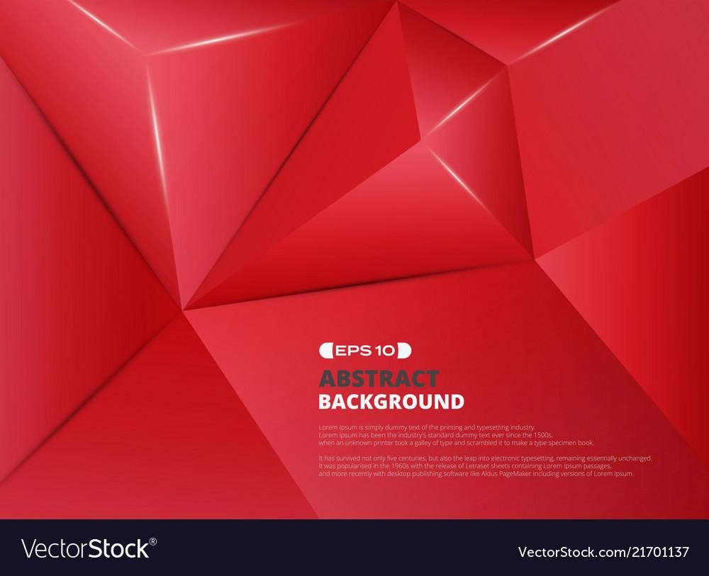 Red pentagon pattern background