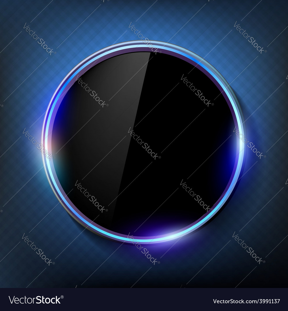 Round Black Screen On A Blue Background Royalty Free Vector