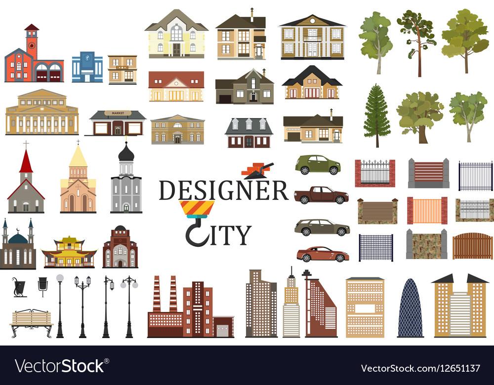 Set of city infographics