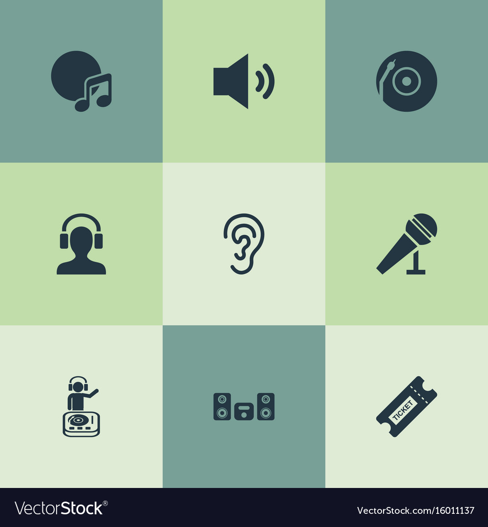 Set of simple sound icons elements playboy vector image