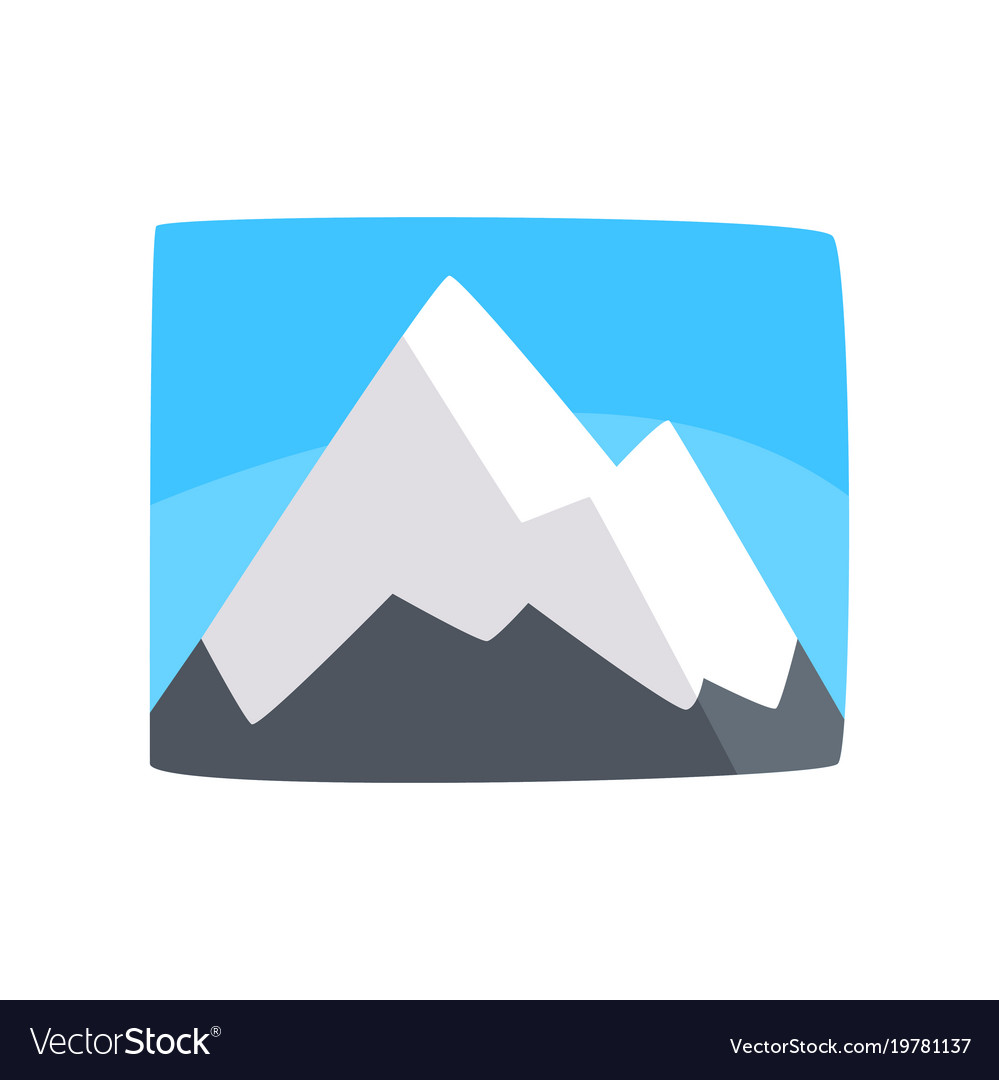 Snowy rocky mountains and blue sky beautiful