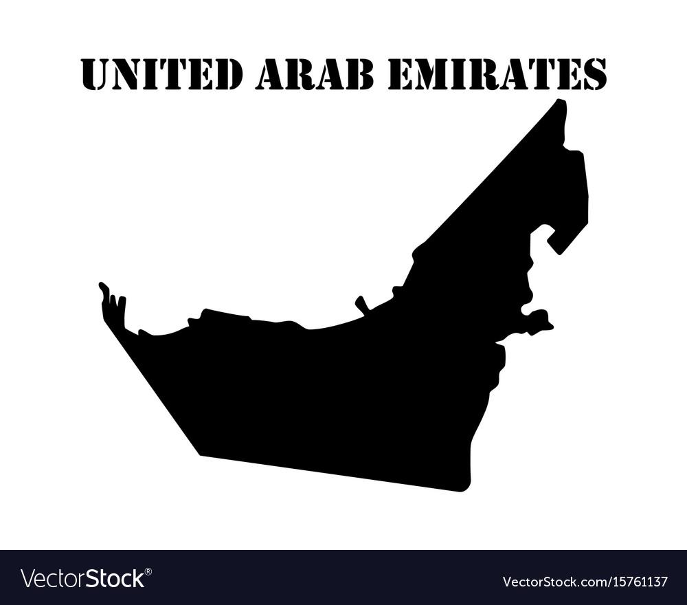 Symbol of isle of united arab emirates and map