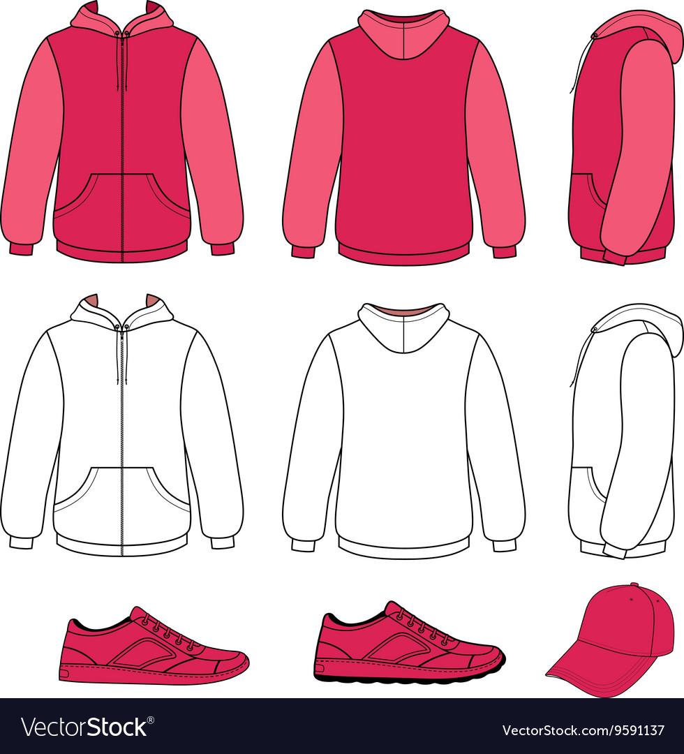 Unisex hoodie cap sneakers set