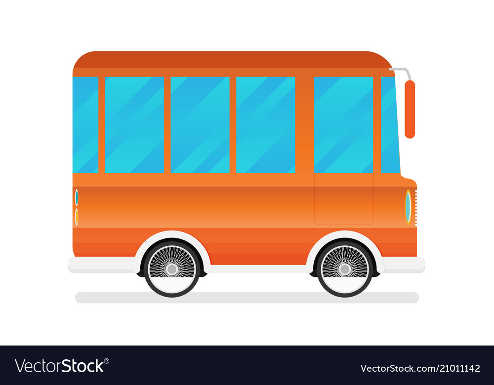 A travel van vector image