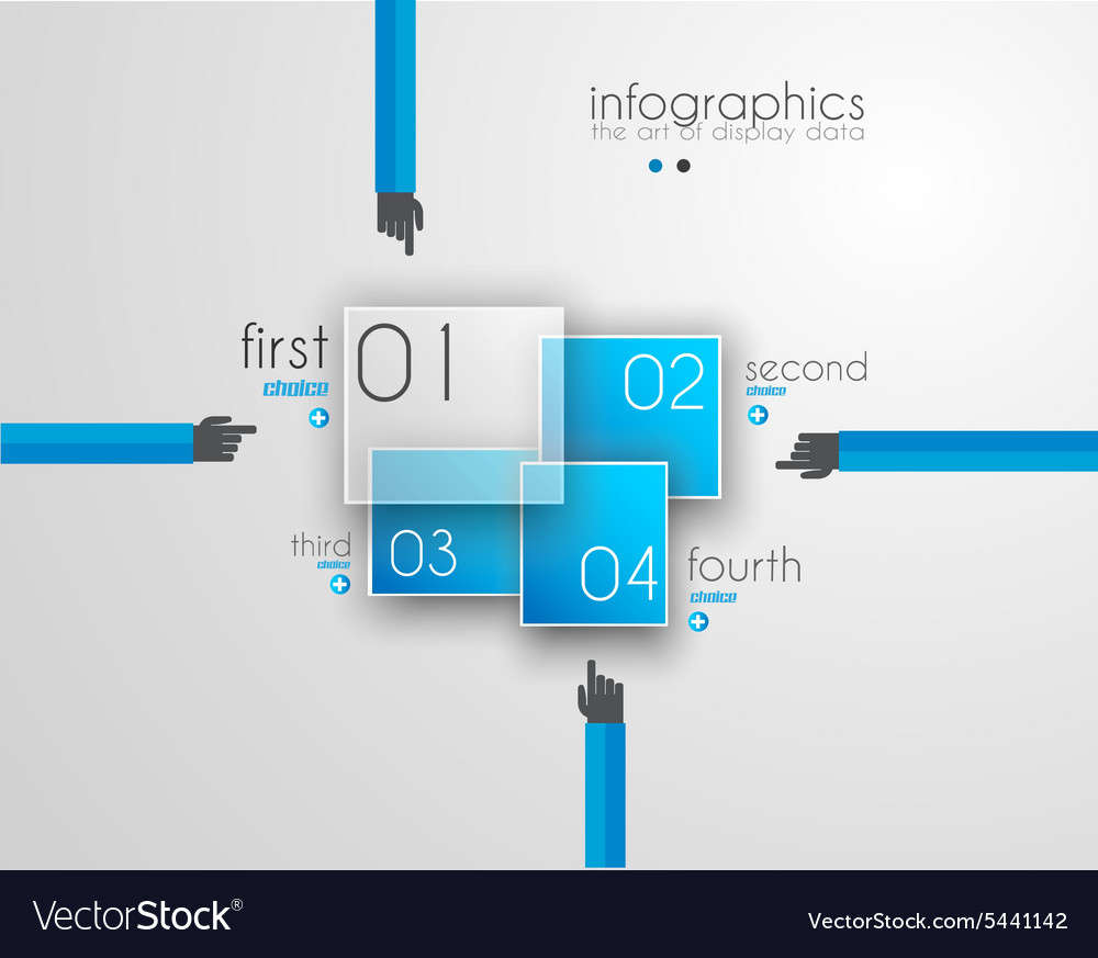 Flat UI design concepts for unique infographics
