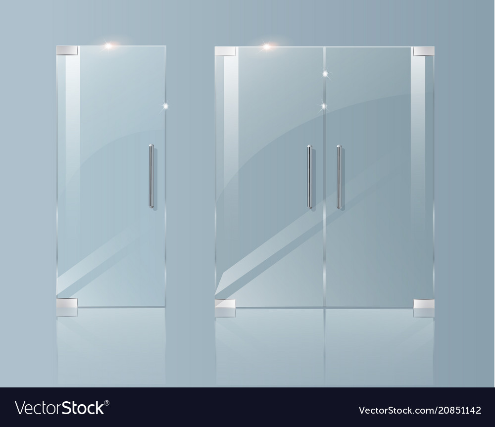 Glass Doors In A Boutique Office Or Shop Vector Image