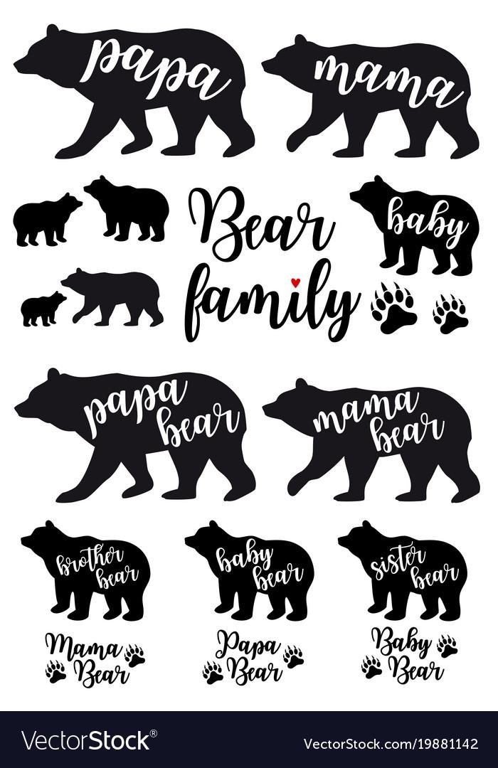 Mama bear papa bear baby bear set