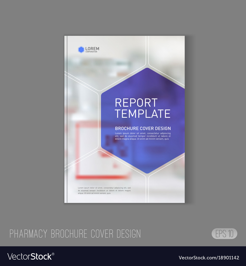 Pharmaceutical Brochure Cover Template Royalty Free Vector