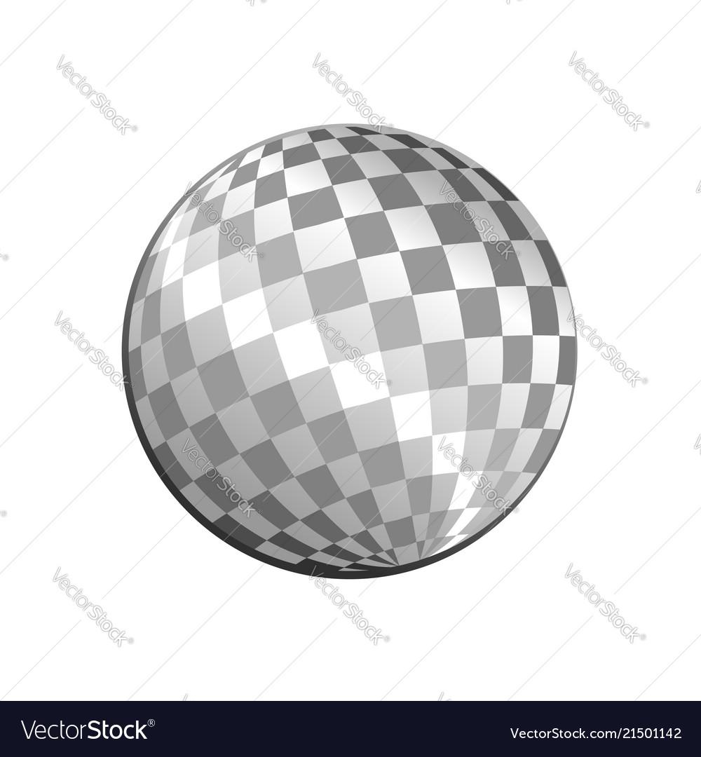 Silver light disco ball graphic design