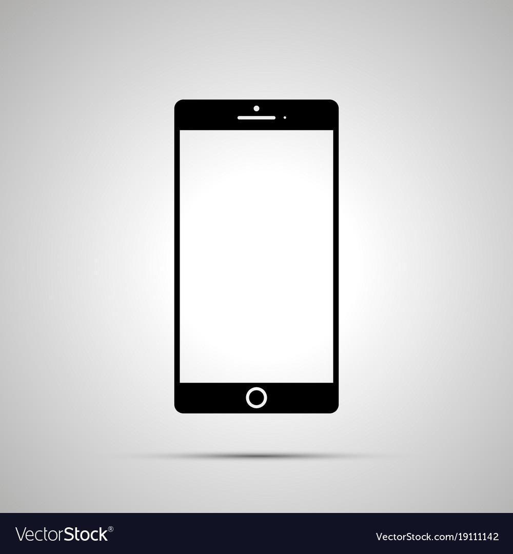 Smartphone silhouette simple black icon