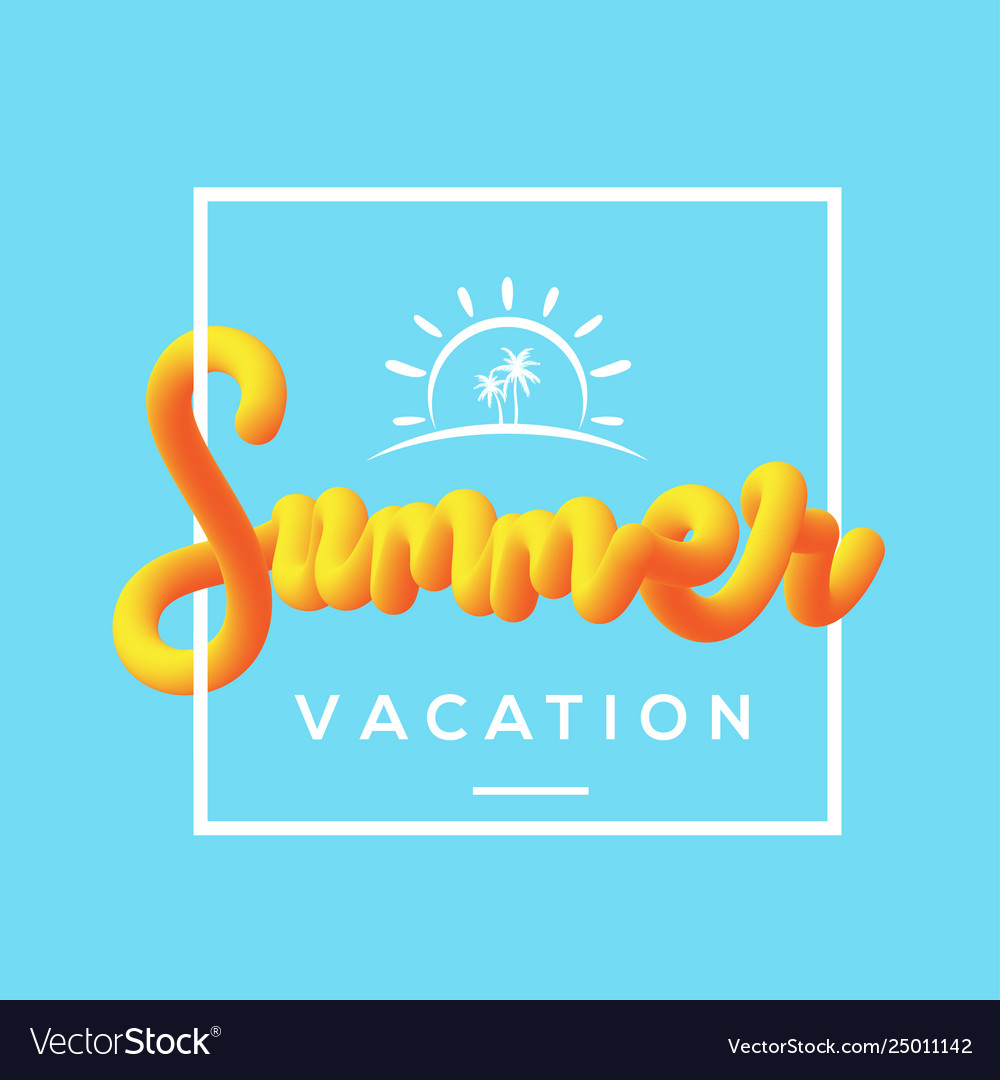 Summer vacation with fluid background